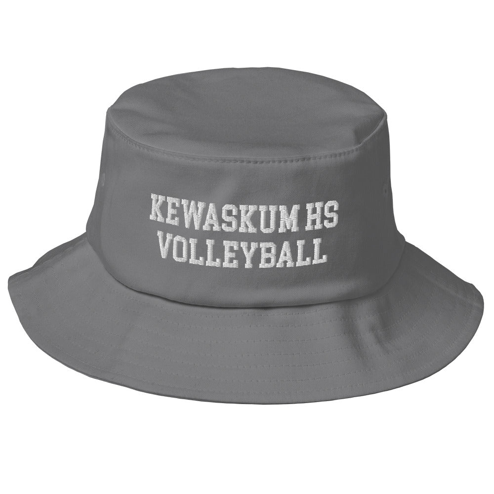 Kewaskum High School Volleyball Old School Bucket Hat