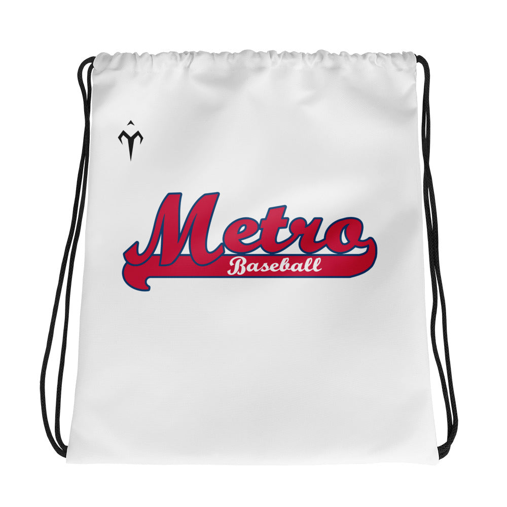 Metro Baseball Drawstring bag