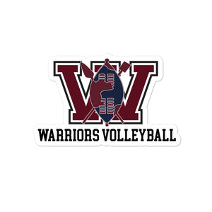 UCW Warriors Volleyball Bubble-free stickers