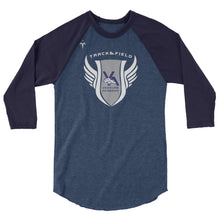 Venture Academy Track and Field 3/4 sleeve raglan shirt