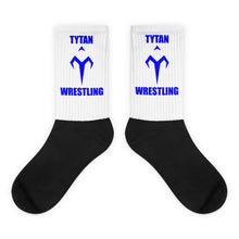 Blue Tytan Wrestling Black foot socks
