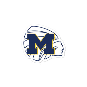 Meridian High School Basketball Bubble-free stickers