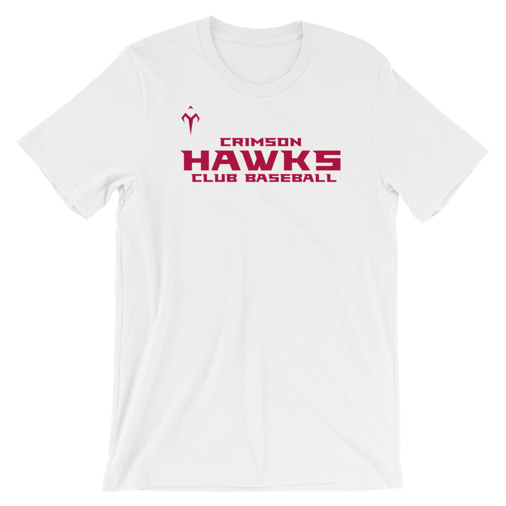 Crimson Hawks Club Baseball Bella + Canvas 3001 Unisex Short Sleeve Jersey T-Shirt with Tear Away Label