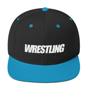 White Wrestling Wool Blend Snapback