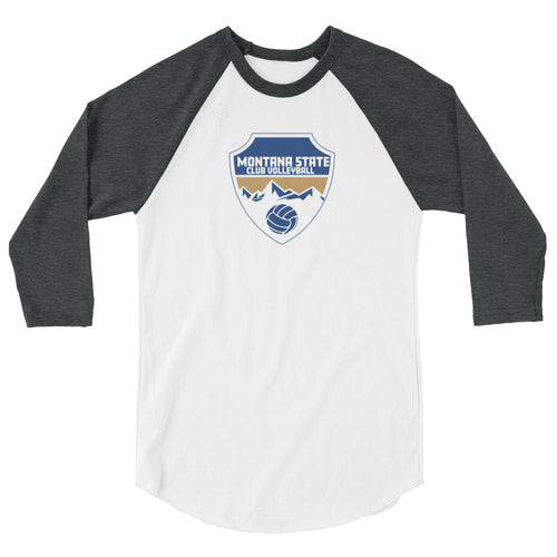 Montana State Club Volleyball 3/4 sleeve raglan shirt