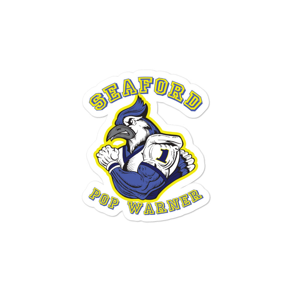 Seaford Pop Warner Bubble-free stickers