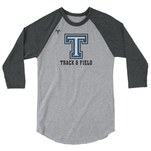 Tempe High School Track and Field 3/4 sleeve raglan shirt