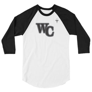 WC Lady Cougars Softball 3/4 sleeve raglan shirt