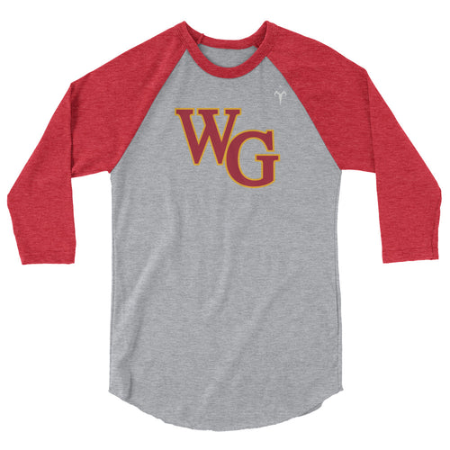 Willow Glen Softball 3/4 sleeve raglan shirt