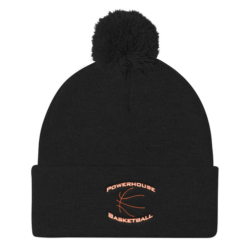 Powerhouse Basketball Pom Pom Knit Cap