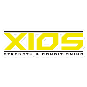 XIOS Strength & Conditioning Bubble-free stickers