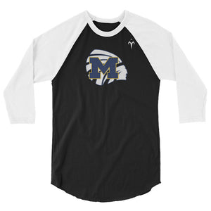 Meridian High School Basketball 3/4 sleeve raglan shirt