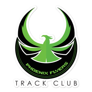 Phoenix Flyers Track Club Bubble-free stickers