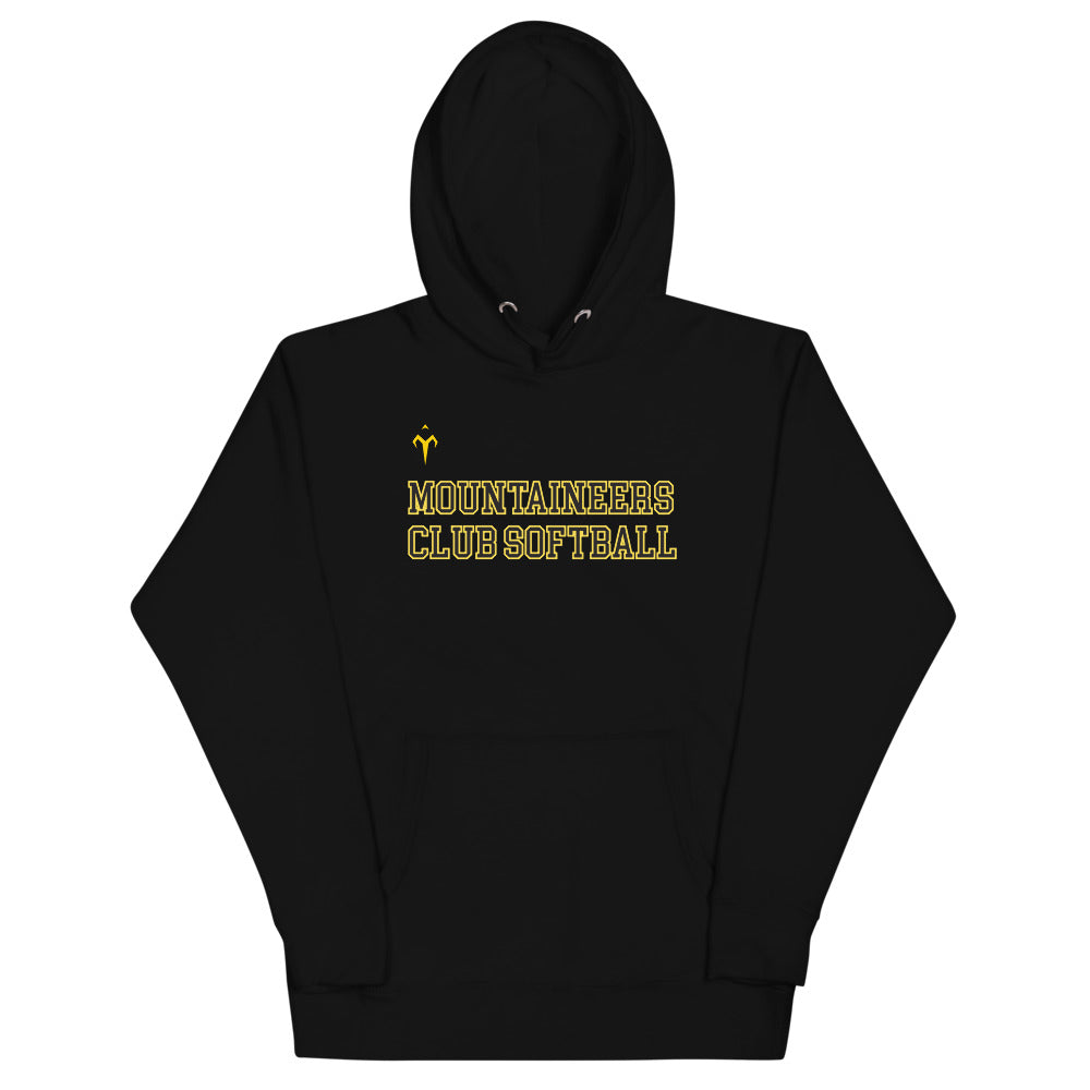 Mountaineers Club Softball Unisex Hoodie