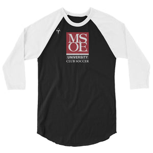MSOE Club Soccer 3/4 sleeve raglan shirt