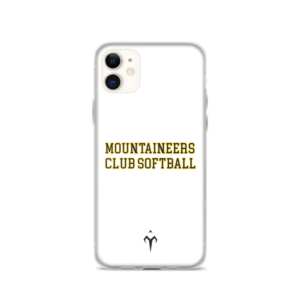 Mountaineers Club Softball iPhone Case