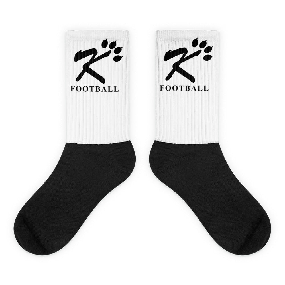 Kingman Football Black Socks