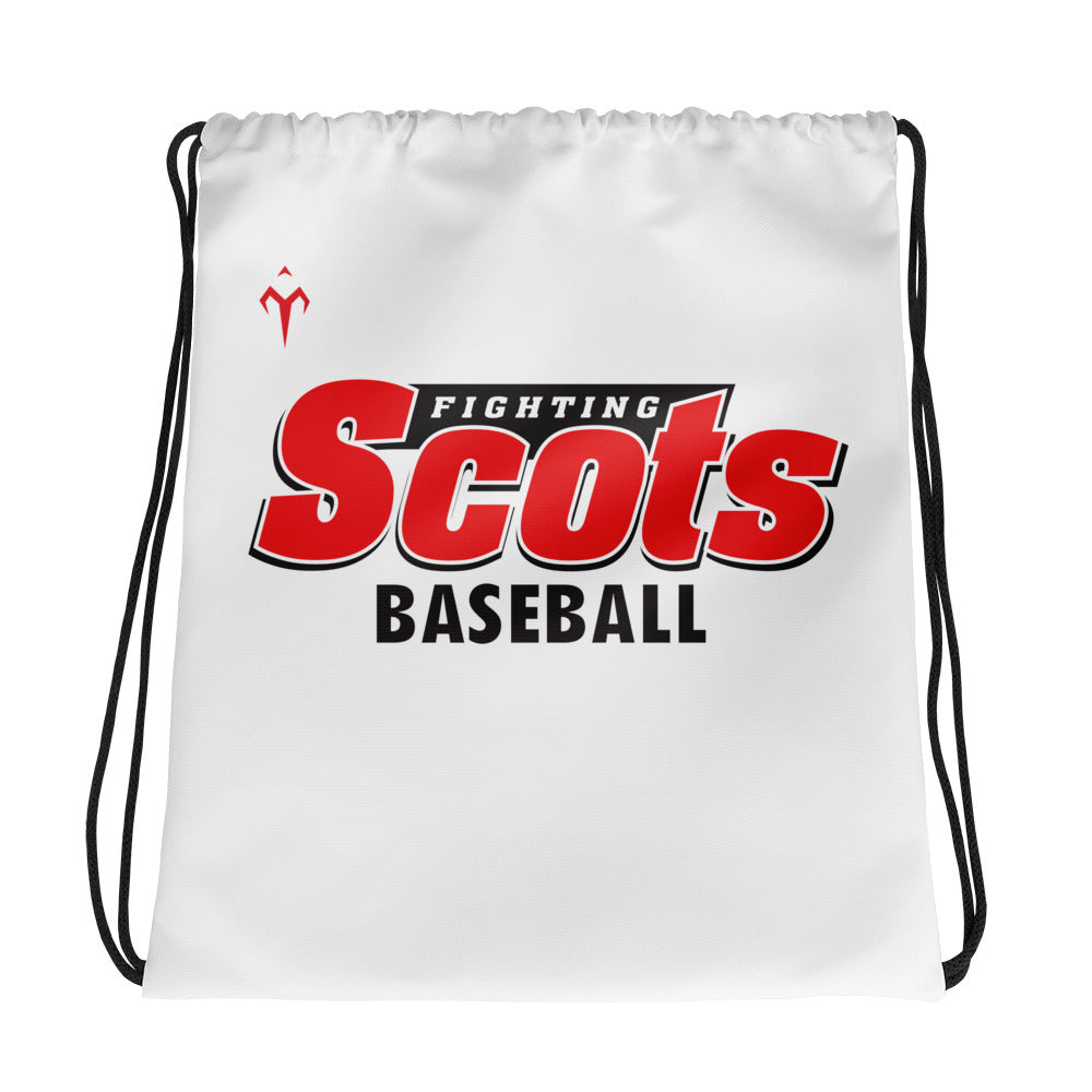 Fighting Scots Baseball Drawstring bag