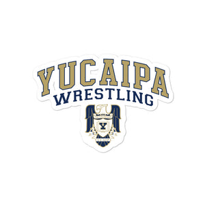 Yucaipa Wrestling Bubble-free stickers