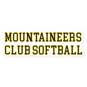 Mountaineers Club Softball Bubble-free stickers
