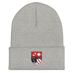 United FC Shield Cuffed Beanie
