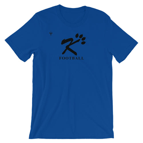 Kingman Football Black Logo Short-Sleeve Unisex T-Shirt