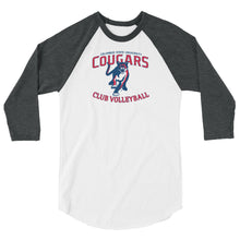CSU Club Volleyball 3/4 sleeve raglan shirt