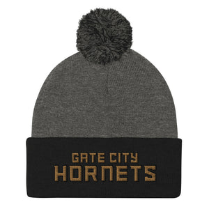 Gate City Hornets Football Pom-Pom Beanie