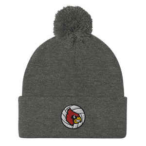 Louisville Volleyball Pom-Pom Beanie
