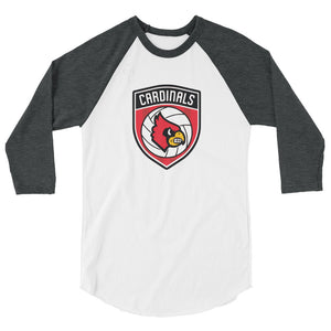 Louisville Volleyball 3/4 sleeve raglan shirt