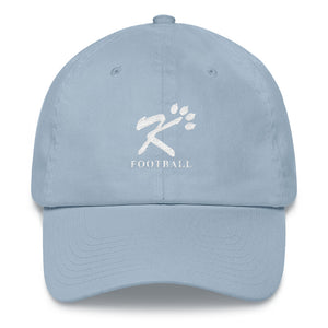 Kingman Football White Logo Dad hat