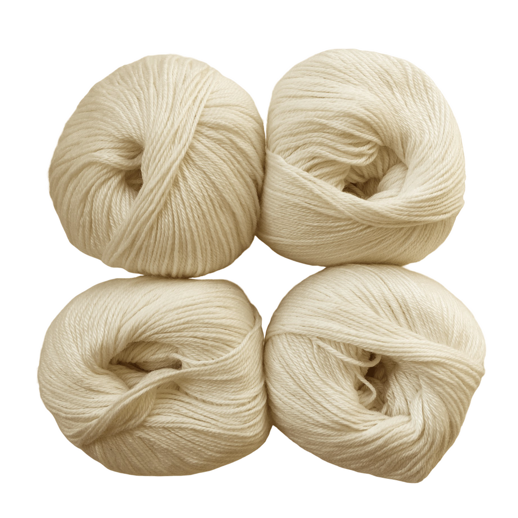 Baby Alpaca / Mulberry Silk Yarn for Dyeing