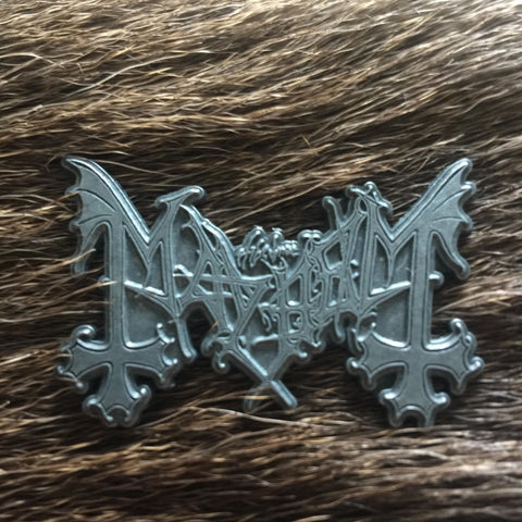 Mayhem Logo Metal Pin