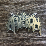 Acheron Metal Logo Pin