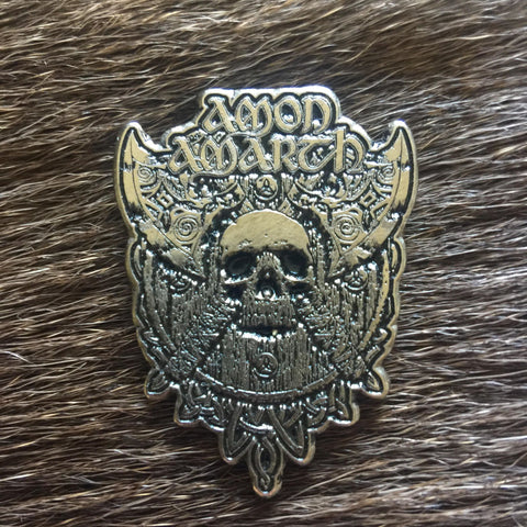 Amon Amarth - Axes, Skull and Shield Metal Pin