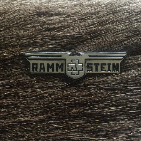Rammstein Logo Shield 3D Metal Pin