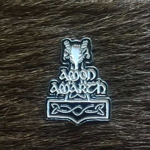 Amon Amarth - White Thor's Hammer Metal Pin