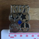 Kiss - Faces Metal Pin