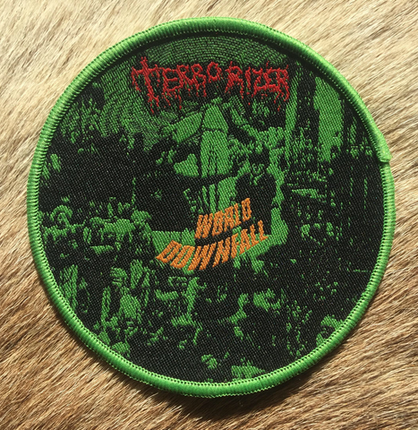 Terrorizer - World Downfall Green Border Circular Patch