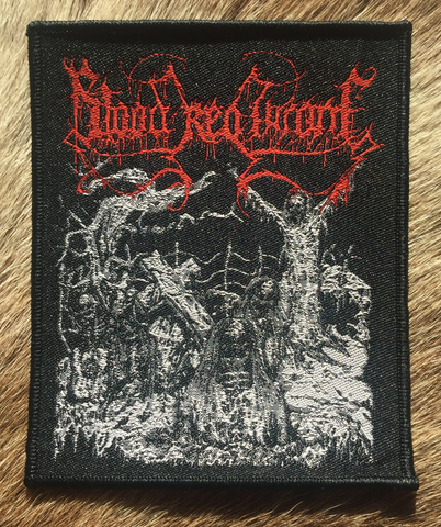 Blood Red Throne - Drawn Black Border Patch