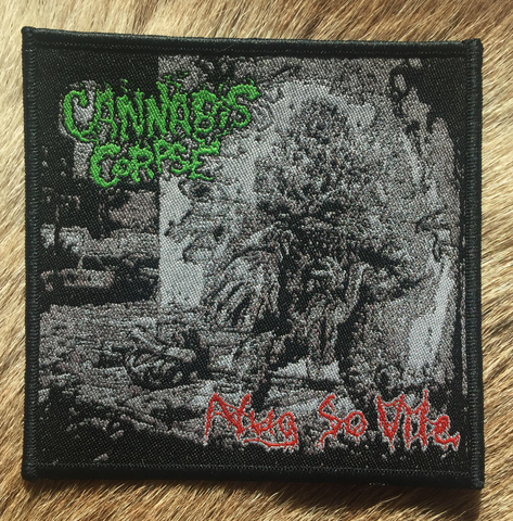 Cannabis Corpse - Nug So Vile Black Border Patch