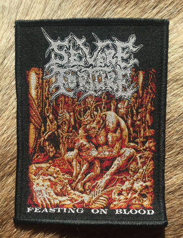Severe Torture - Feasting On Blood Black Border Patch