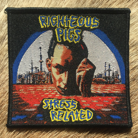 Righteous Pigs - Stress Related Black Border Patch