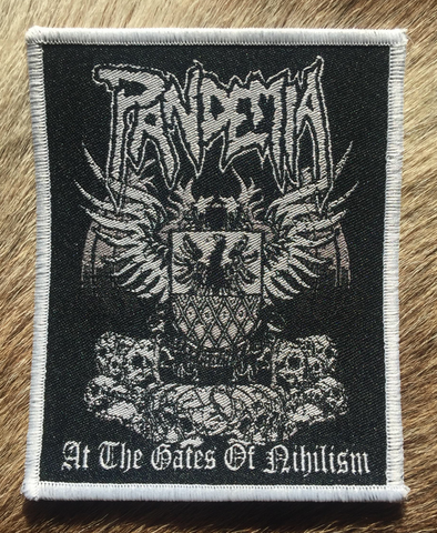 Pandemia - At the Gates of Nihilism White Border Patch