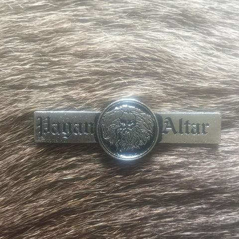 Pagan Altar Logo Metal Pin