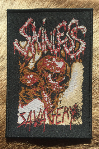 Skinless - Savagery Black Border Patch