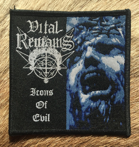 Vital Remains - Icons of Evil Black Border Patch