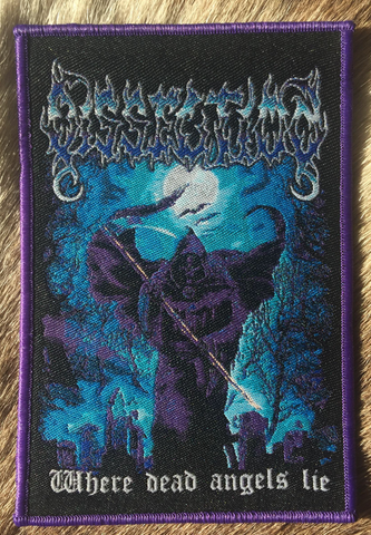 Dissection - Where Dead Angels Lie Purple Border Patch