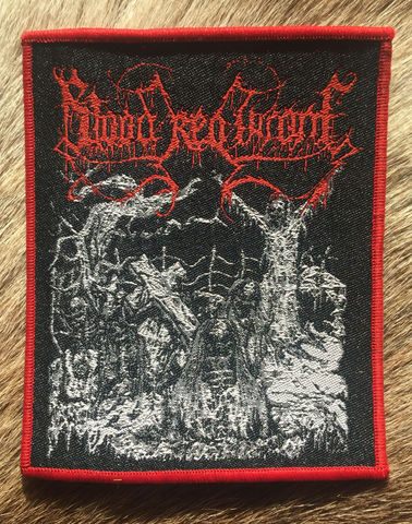 Blood Red Throne - Drawn Red Border Patch