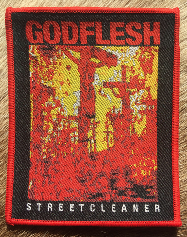 Godflesh	- Streetcleaner Red Border Patch